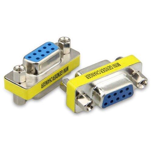 Переходник GSMIN A92 разъёма COM - COM (DB9, RS232) (Серебристый)