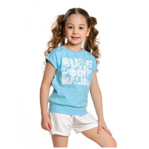 Купить Футболка Mini Maxi 0505, цвет голубой, размер 92, Футболки и рубашки