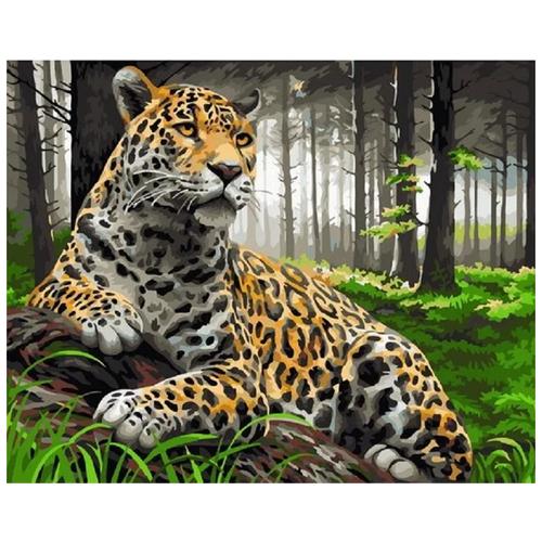 Картина по номерам Леопард в лесу 40х50 см Paintboy картина по номерам 40х50 см леопард в лесу gx8340