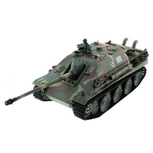 Фото - Радиоуправляемый танк Heng Long Jagdpanther Original V6.0 2.4G 1/16 RTR, HL3869-1O6.0 радиоуправляемый танк heng long радиоуправляемый мини танковый бой cs toys 9819