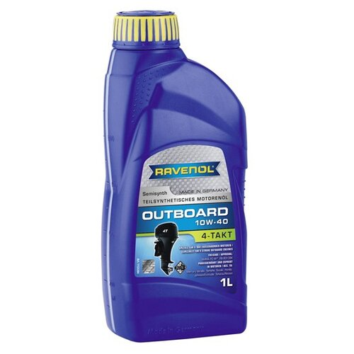 Полусинтетическое моторное масло Ravenol Outboardoel 4T SAE 10W-40, 1 л моторное масло ravenol dlo sae 10w 40 1 л