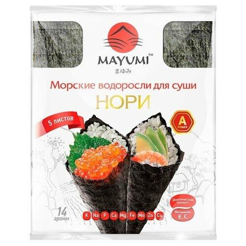 MAYUMI Морские водоросли для суши Нори, 14 г