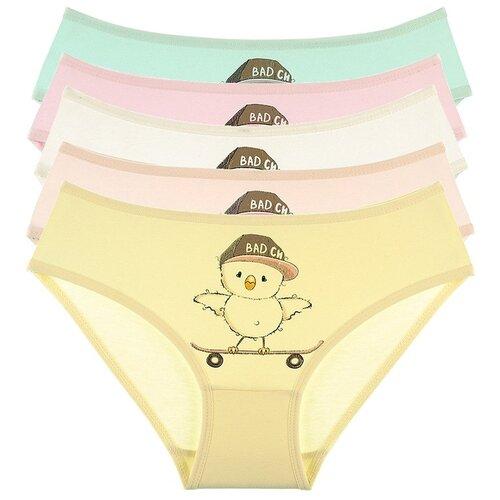 Купить Трусы для девочек 4171LC, Цвет: Микс, Размер: 6/7, 5шт. в упаковке, Donella, Белье и купальники