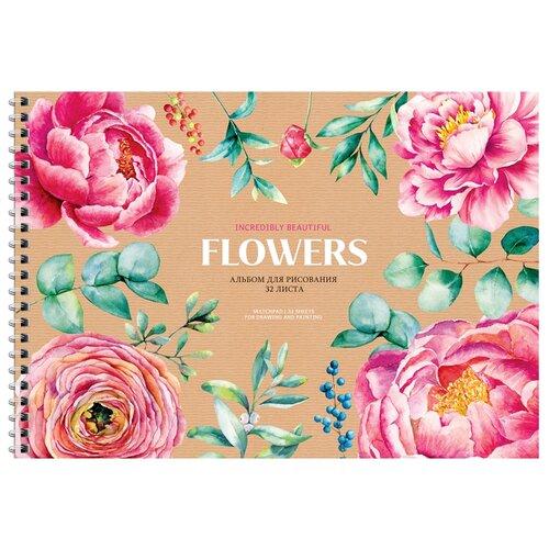 Купить Набор альбомов для рисования ArtSpace Цветы. Flowers and craft 29.7 х 21 см (A4), 100 г/м², 32 л. (6шт.), Альбомы для рисования