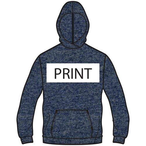 Толстовка с капюшоном для фитнеса, карман кенгуру, размер: L, цвет: Сине-Фиолетовый DOMYOS Х Декатлон