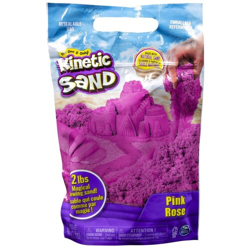 Кинетический песок Kinetic Sand большой (6047182/6047183/6047184/6047185), розовый, 0.91 кг, пакет