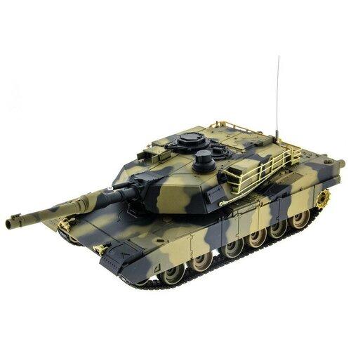 Фото - Радиоуправляемый танк Heng Long 1/24 Battle M1A1 ABRAMS RTR 3816 радиоуправляемый танк heng long радиоуправляемый мини танковый бой cs toys 9819