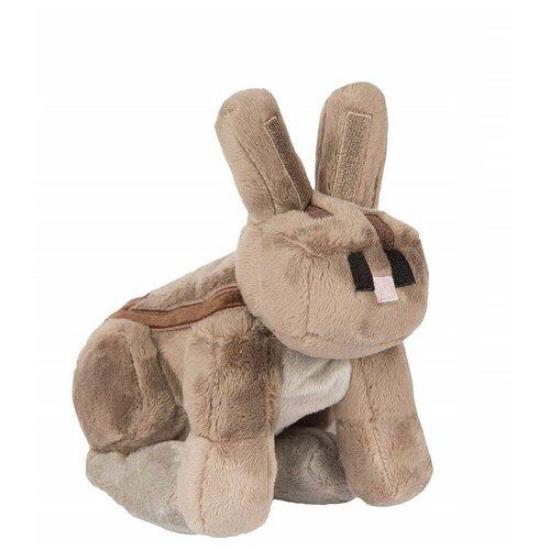 Мягкая игрушка Серый кролик Rabbit из Майнкрафт 18 см