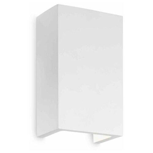 Настенный светильник IDEAL LUX Flash Gesso AP1 High, G9, 40 Вт, кол-во ламп: 1 шт., цвет арматуры: белый, цвет плафона: белый настенный светильник ideal lux flash ap1 bianco