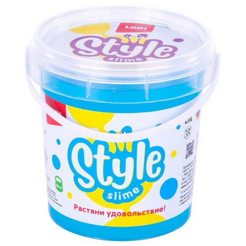 Жвачка для рук LORI Style Slime перламутровый с ароматом тутти-фрутти голубой