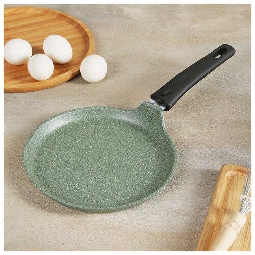 Сковорода блинная 20 см фисташковый мрамор 4942170 сковорода d 24 см kukmara кофейный мрамор смки240а
