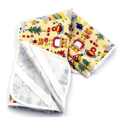 Наматрасник Multi Diapers Лисы, непромокаемый, 60х120 см лисы наматрасник multi diapers непромокаемый из микрофибры с рисунком 60х120 см лисы