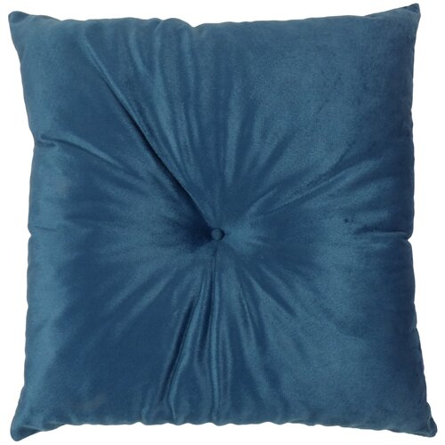 Подушка 40х40 см, с имитац.пуговиц, SM синяя Бельвита