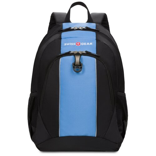 Рюкзак SWISSGEAR, чёрный/голубой, полиэстер 420D, 32х14х45 см, 20 л Swissgear MR-SA17222315