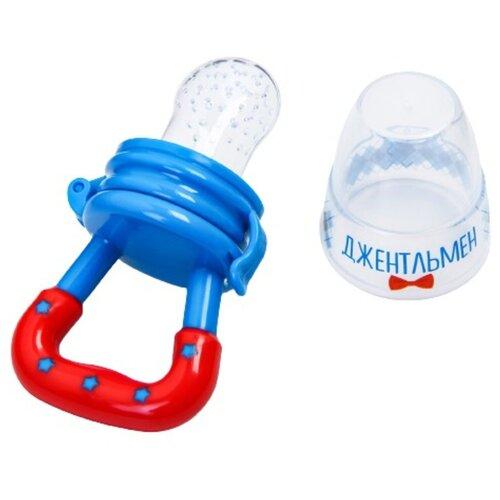 Купить Ниблер для прикорма, с силиконовой сеточкой Джентльмен , цвет голубой 2279609, Mum&Baby, Бутылочки и ниблеры