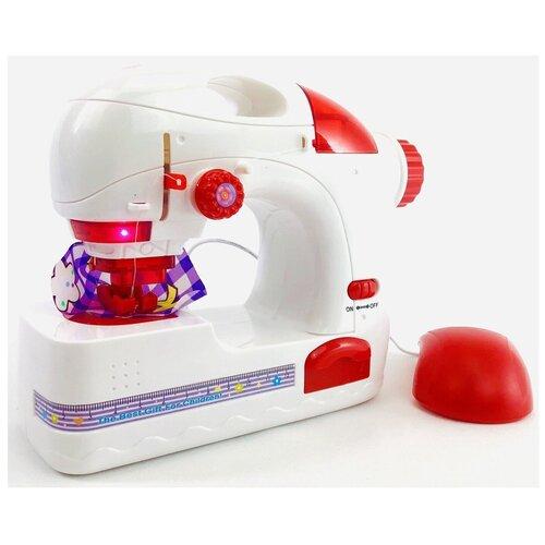 Детская игрушечная швейная машина с педалью и аксессуарами My Home 3232, с подсветкой, 20х16,5х7,5 см