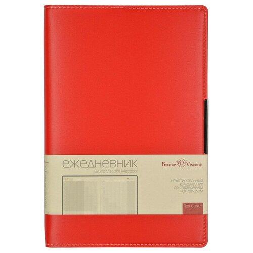 Купить Ежедневник недатированный А5 METROPOL (красный)3-491/02, Bruno Visconti, Ежедневники