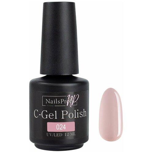 Купить Гель-лак для ногтей NailsProfi C-Gel Polish, 12 мл, 024