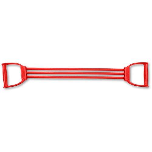 Эспандер плечевой LATEX INDIGO MEDIUM (15-24 кг) 3 жгута SM-073 Красный 70 см