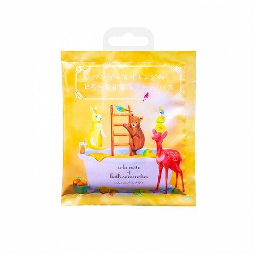 Фото - Charley Sommelier Соль для ванн с экстрактом манго и апельсином, 40 г добропаровъ соль для ванн с маслом ели 3005701 300 г