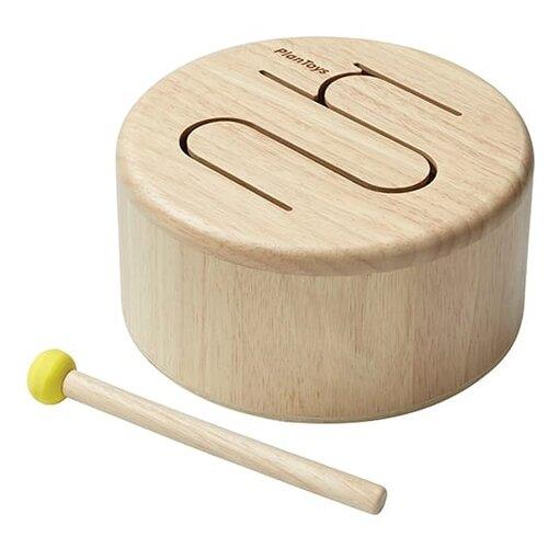 Купить Барабан Plan Toys, натуральный (6439), PlanToys, Детские музыкальные инструменты