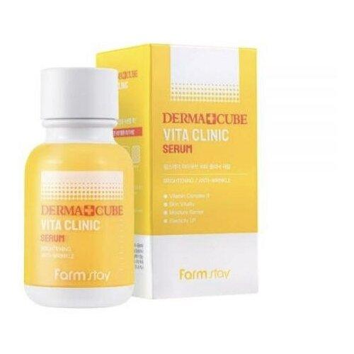 FarmStay Derma Cube Vita Clinic Serum Сыворотка для лица с комплексом витаминов, 50мл
