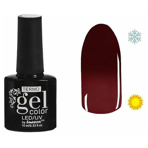 Фото - Гель-лак для ногтей Luazon Gel color Termo, 10 мл, A1-032 красное вино гель лак для ногтей luazon gel color termo 10 мл а2 076 пурпурный перламутровый