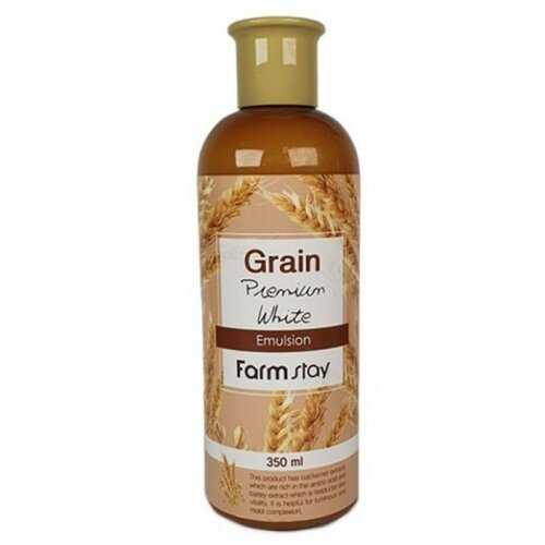Farmstay Grain Premium White Emulsion Выравнивающая эмульсия для лица с экстрактом ростков пшеницы, 350 мл muse vera sprout energy emulsion эмульсия для лица с экстрактом ростков баобаба 130 мл
