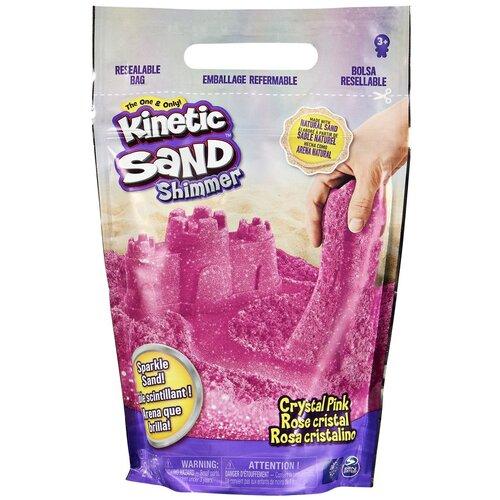 Кинетический песок Kinetic Sand с блестками (6060800/6060801), розовый, 0.91 кг, пакет