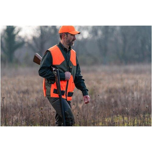 Рубашка для охоты с длинными рукавами 100 , размер: L, цвет: Темно-Зеленый SOLOGNAC Х Декатлон
