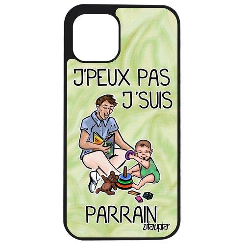 """Чехол на смартфон iPhone 12 pro, """"Не могу - стал крестным!"""" Семья Карикатура"""