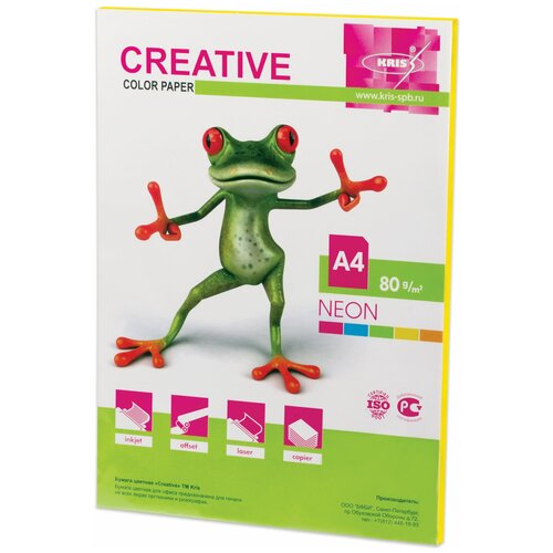 Фото - Бумага Creative A4 Color Neon 80 г/м² 50 лист., желтый 50 fantastic ideas for creative role play