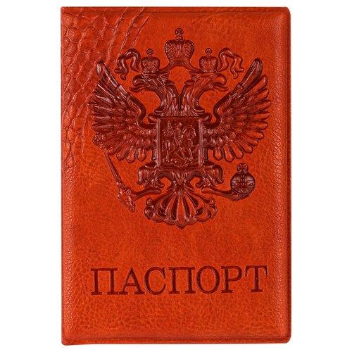 Обложка для паспорта OfficeSpace Герб, коричневый