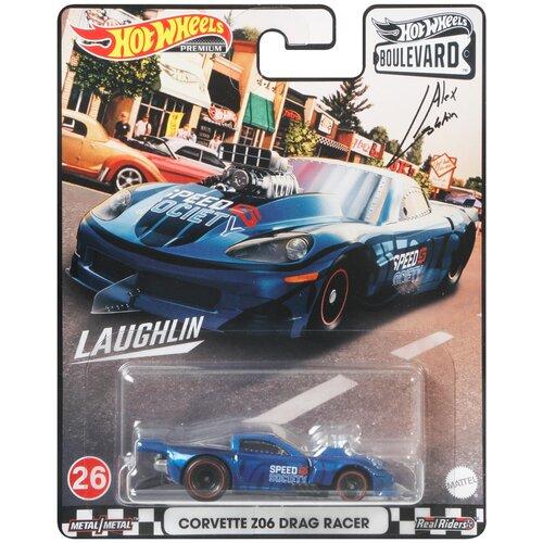 Купить Гоночная машина Hot Wheels Corvette Z06 Drag Racer (GJT68/GRL96), синий, Машинки и техника