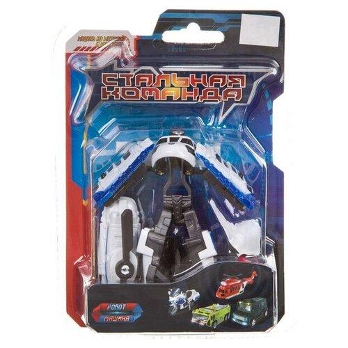 Купить Робот-трансформер Zhorya Стальная команда ZYK-K2601-3 черный/белый, Роботы и трансформеры