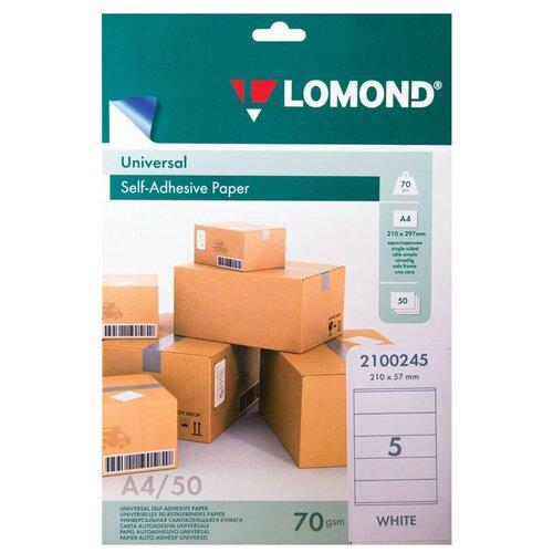 Фото - Бумага Lomond A4 2100245 70 г/м² 50 лист., белый бумага canon zink zp 2030 3214c002 20 лист белый