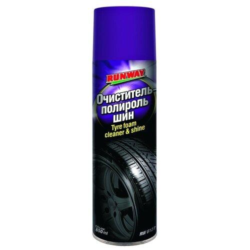 Очиститель-полироль шин RUNWAY RW6127, 650 мл 1 шт. недорого