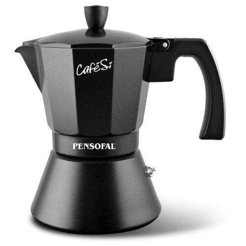 Фото - Гейзерная кофеварка Pensofal CafeSi (0.35 л), черный гейзерная кофеварка на 6 чашек 350 мл pensofal