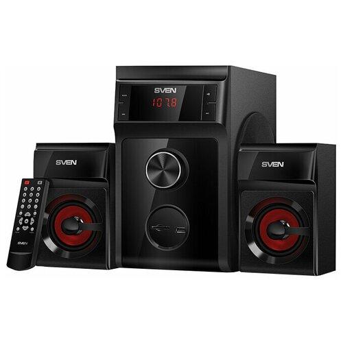 Компьютерная акустика SVEN MS-302 черный портативная акустика sven ps 68 черный
