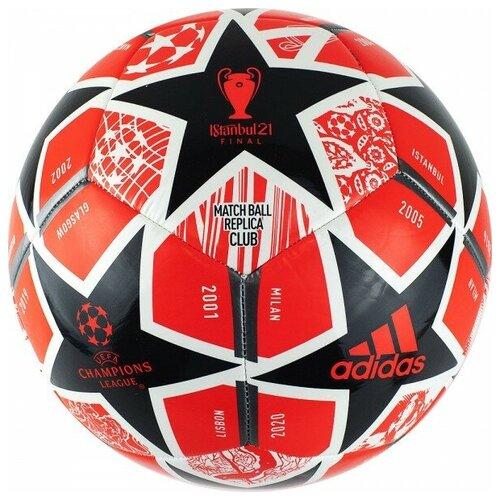 мяч футбольный adidas conext19 tcpt dn8636 белый желтый оранжевый размер 5 Мяч футбольный Adidas Finale Club арт.GK3470 р.5