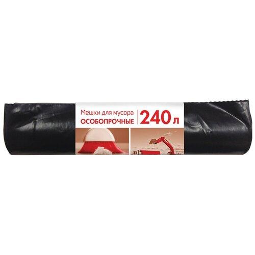 Мешки для мусора Концепция Быта особопрочные 240 л, 10 шт., черный