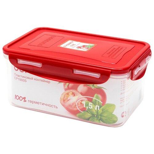 Oursson Контейнер CP1503S, 13.5x20 см, красный oursson контейнер cp1304s оранжевый прозрачный