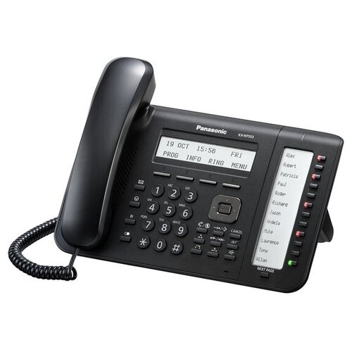 VoIP-телефон Panasonic KX-NT553 черный voip телефон panasonic kx nt553 черный