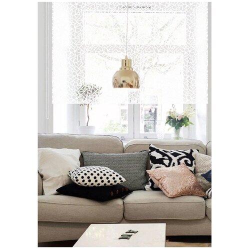Фото - Рулонная штора Эскар Heyli (белый), 160х160 см римская штора эскар линза синий 160х160 см