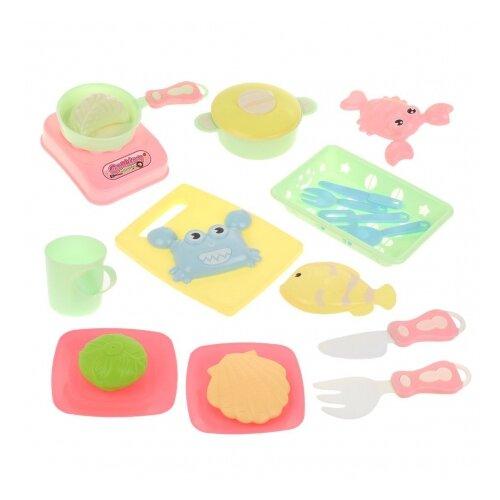 Купить Набор продуктов с посудой Наша игрушка Посуда 6604F, Игрушечная еда и посуда