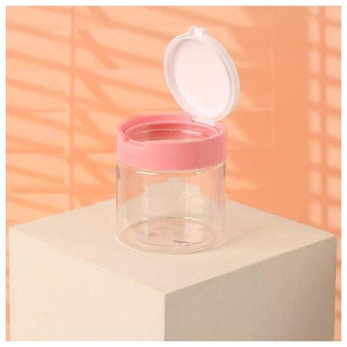 Контейнер для ватных дисков и ватных палочек Onlitop 3957398, белый/розовый