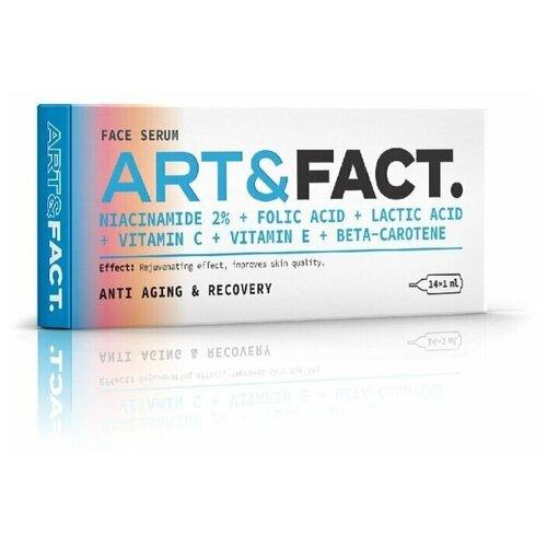 Витаминная сыворотка под мезороллер для лица с ниацинамидом, фолиевой и молочной кислотой, витамином Е, С, и бета-каротином (провитамином А) ART&FACT. (Niacinamide 2 % + Folic Acid + Lactic Acid + Vitamin C + Vitamin E + Beta-Carotene) недорого