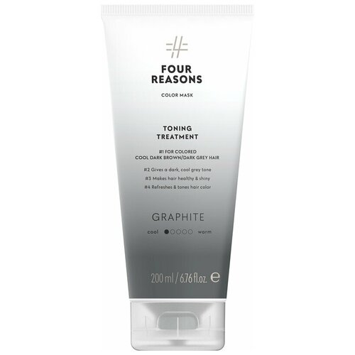 Купить Four Reasons Тонирующая маска для поддержания цвета окрашенных волос Toning Treatment Graphite, 200 мл