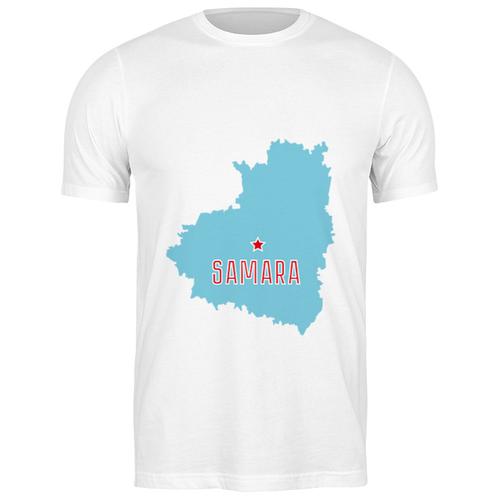 Футболка классическая Самарская область. Самара #2194545 (цвет: БЕЛЫЙ, пол: МУЖ, качество: ЭКОНОМ, размер: S)