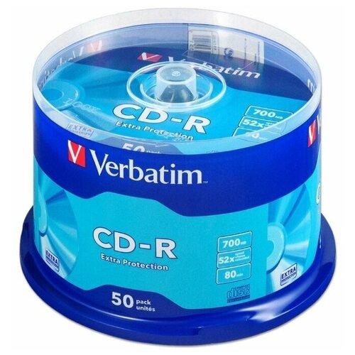 Фото - Диск CD-R Verbatim 700Mb 52x Extra Protection 50 шт. cake box диск cd r verbatim 700 mb 52x cake box 50 dl full ink printable 50 200 43438